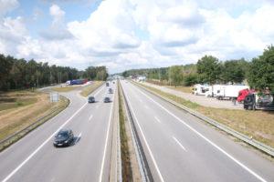 Kein Grünes Band sondern die Autobahn A24
