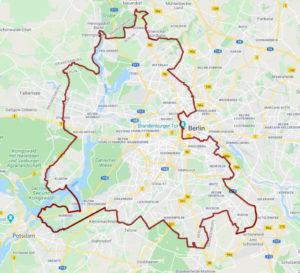 Plan des Mauerwegs in Berlin