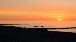 Grünes Band Ostsee Sonnenuntergang
